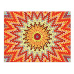 Energy Mandala Colorful Kaleidoscope Design Postcard