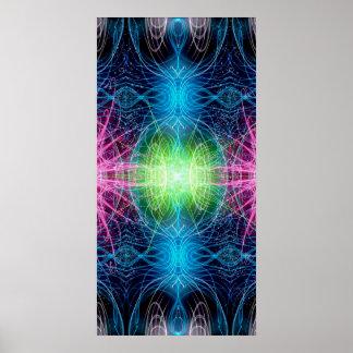Energy of Light blossoms Poster