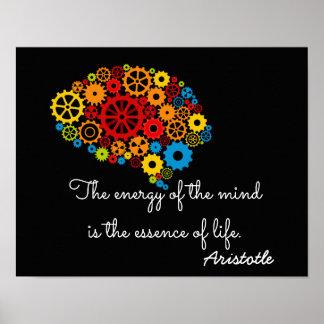 Energy of the Mind - Aristotle quote _ Art print