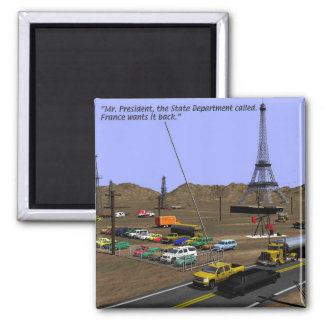 Energy - Oil Field -Eiffel Tower - Drilling 2 Inch Square Magnet