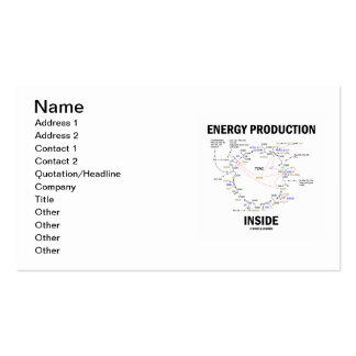 Energy Production Inside (Krebs Cycle TCAC) Business Card