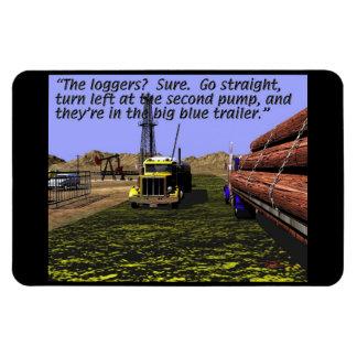 Energy Production - Mud Logging - Log Truck Rectangular Photo Magnet