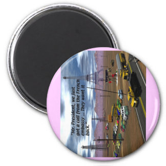 Energy Production - Oil Field - Eiffel Tower 2 Inch Round Magnet