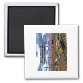 Energy Production - Oil Field - Eiffel Tower 2 Inch Square Magnet