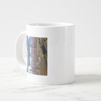 Energy Production - Oil Field - Eiffel Tower Giant Coffee Mug