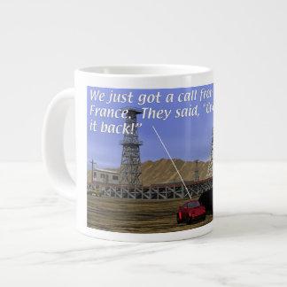 Energy Production - Oil Field - Eiffel Tower Large Coffee Mug