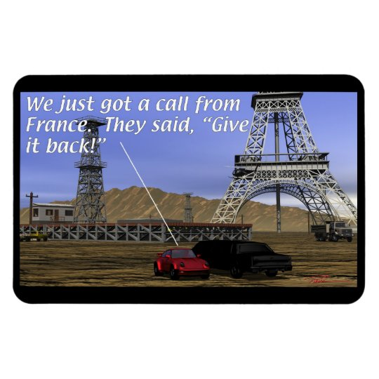 Energy Production - Oil Field - Eiffel Tower Magnet