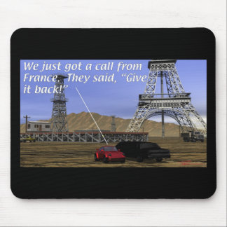 Energy Production - Oil Field - Eiffel Tower Mouse Pad