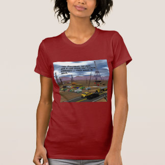 Energy Production - Oil Field - Eiffel Tower T-Shirt
