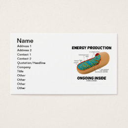 Energy Production Ongoing Inside (Mitochondrion) Business Card