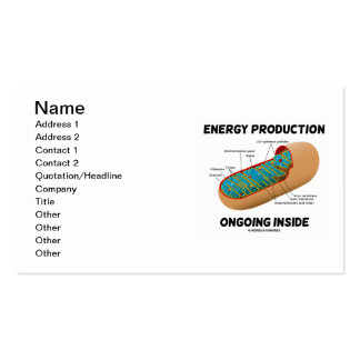 Energy Production Ongoing Inside (Mitochondrion) Double-Sided Standard Business Cards (Pack Of 100)