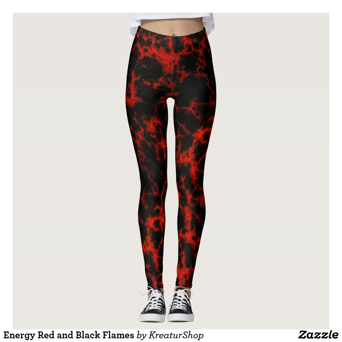 Energy Red and Black Flames