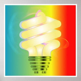 Energy Saving Light Bulb Poster