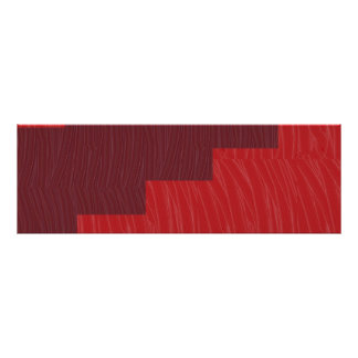 ENERGY STRIP silken red n artistic WAVE PATTERN Poster