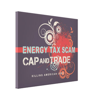 Energy Tax Scam Canvas Print