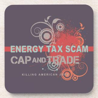 Energy Tax Scam Beverage Coasters
