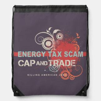 Energy Tax Scam Drawstring Bag