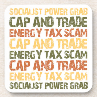 Energy Tax Scam Drink Coaster