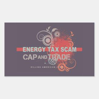 Energy Tax Scam Rectangular Sticker