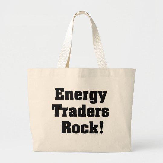Energy Traders Rock! Large Tote Bag