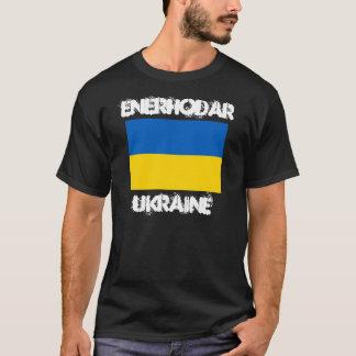 Enerhodar, Ucrania con la bandera ucraniana Playera