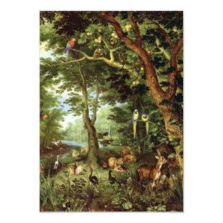 """Enero Bruegel la anciano - paraíso Invitación 5"""" X 7"""""""