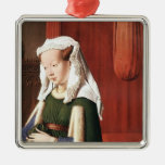 Enero Eyck- Juan Arnolfini y su esposa Ornamento Para Arbol De Navidad