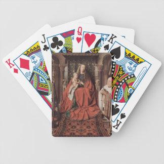Enero Eyck- Madonna y niño con Canon Joris Paele Baraja Cartas De Poker