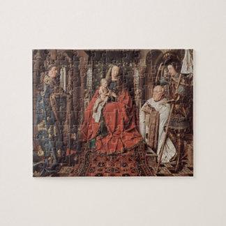 Enero Eyck- Madonna y niño con Canon Joris Paele Rompecabeza Con Fotos