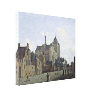 Enero van der Heyden - la iglesia en Veere Lona Estirada Galerías
