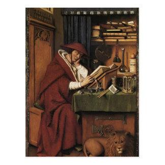Enero van Eyck- St Jerome en su estudio Tarjetas Postales