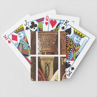 Enero van Eyck- The Madonna de Canon van der Paele Baraja Cartas De Poker