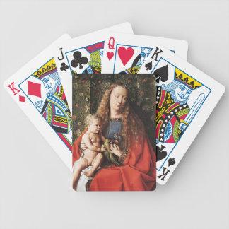 Enero van Eyck- The Madonna de Canon van der Paele Cartas De Juego