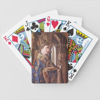 Enero van Eyck- The Madonna de Canon van der Paele Baraja De Cartas