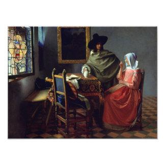 Enero Vermeer - el vidrio de vino Fotografías