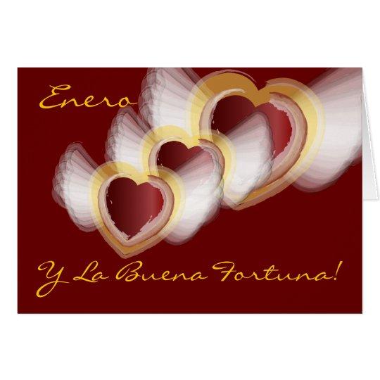 """""""Enero Y La Buena Fortuna""""-Customize Card"""