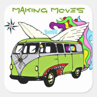 ENFAMTREE- Making moves bomber bus Square Sticker