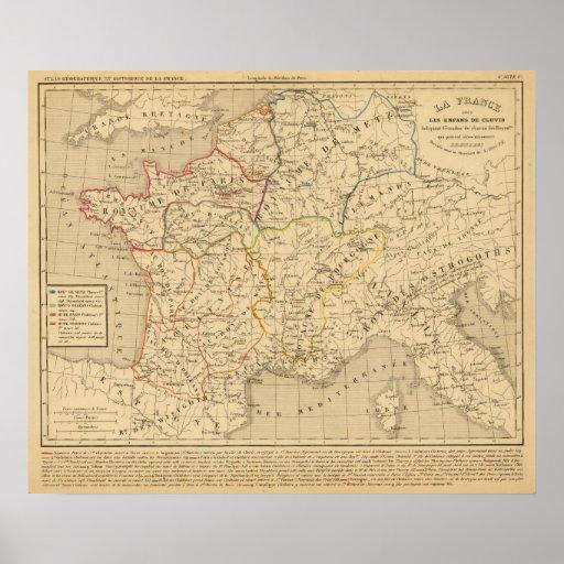 Enfans sous de Clovis de los les de Francia del La Poster