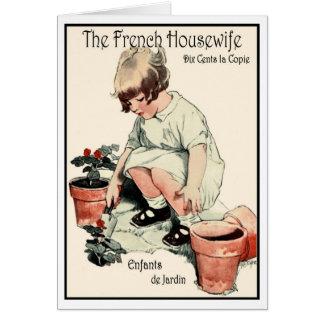 """Enfants de jardin"" CHILDREN'S GARDEN GREETING Card"