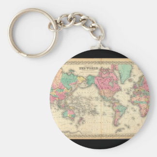 Enfeebled World Map_Maps of Antiquity Keychain