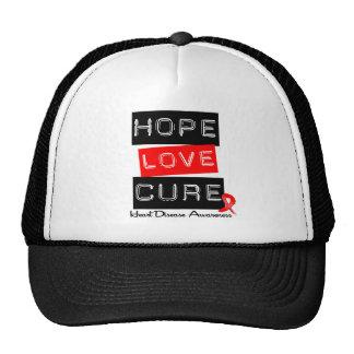 Enfermedad cardíaca de la curación del amor de la  gorras