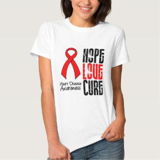 Enfermedad cardíaca de la curación v2 del amor de camisas