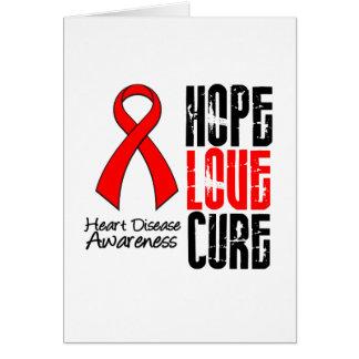 Enfermedad cardíaca de la curación v2 del amor de tarjeta de felicitación
