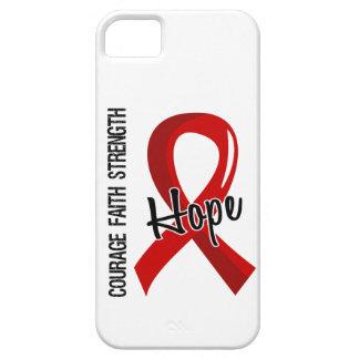 Enfermedad cardíaca de la esperanza 5 de la fe del iPhone 5 fundas