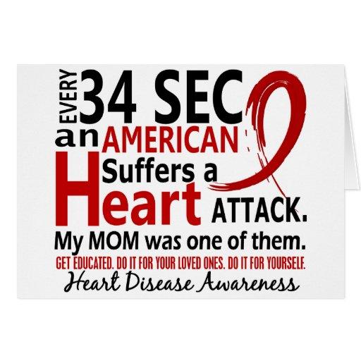 Enfermedad cardíaca de la mamá de cada 34 segundos tarjeta de felicitación