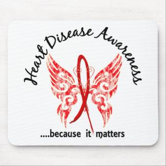 Enfermedad cardíaca de la mariposa 6,1 del tatuaje alfombrillas de ratones