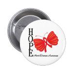 Enfermedad cardíaca de la mariposa de la esperanza pin