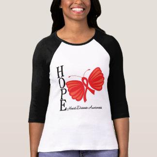 Enfermedad cardíaca de la mariposa de la esperanza camiseta