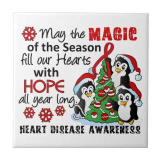 Enfermedad cardíaca de los pingüinos del navidad teja cerámica