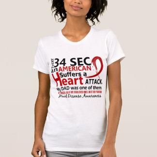 Enfermedad cardíaca del papá de cada 34 segundos/a camisetas